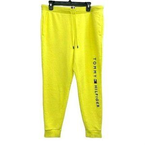 Tommy Hilfiger Yellow Logo Spellout Sweatpants